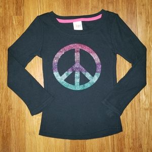 Rainbow Peace Sign Thermal sz XS 4-5